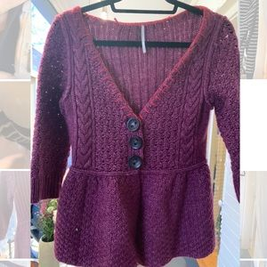 Free people peplum cardigan